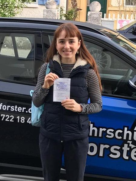 Praktische Führerprüfung - Davina - 16.04.2019