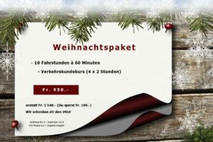 Weihnachtsangebot Fahrstundenpaket
