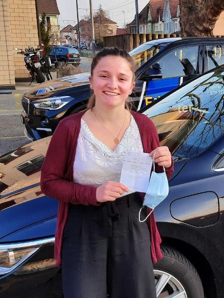 Praktische Führerprüfung - Sarah - 08.03.2021